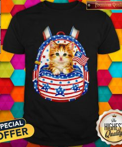 Good Independence Day Flag USA Cat Bag Shirt