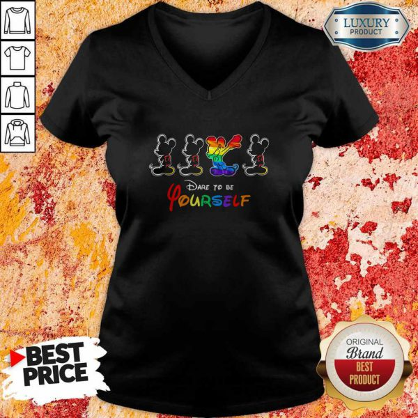 Good LGBT Mickey Mouse Dare To Be Yourself V-neck