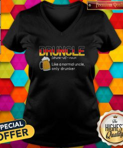 Nice Germany Druncle Noun Like A Normal Uncle Only Drunker Beer V-neck