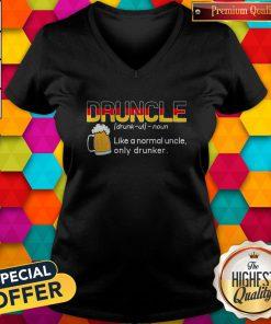 Nice Germany Druncle Noun Like A Normal Uncle Only Drunker Beer V-neck