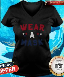 Perfect Wear A Mask 4th Of July V-neck