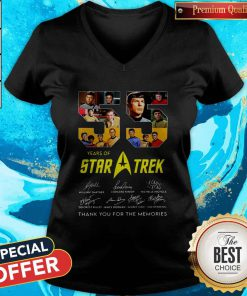 55 Years Of Star Trek Thank You For The Memories V-neck