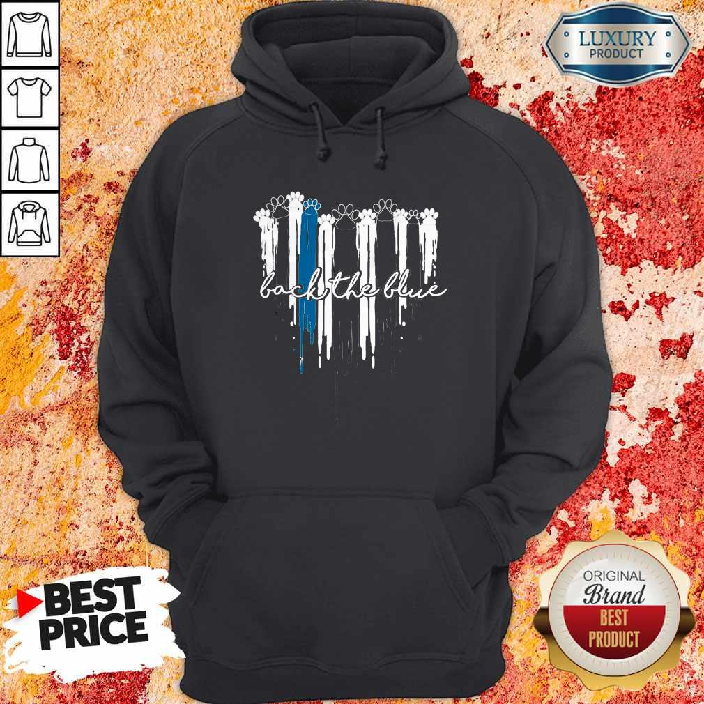 Beautiful Paws Cat Back The Blue Hoodie