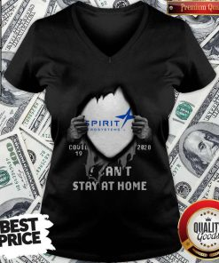 Blood Inside Me Spirit Aerosystems Covid-19 2020 I Can't Stay At Home V-neck