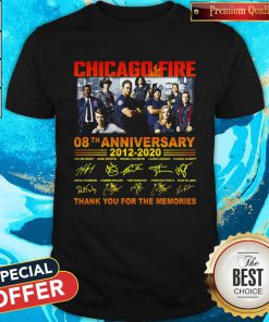 Chicago Fire 08th Anniversary Thank You For The Memories Signature Shirt