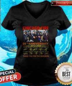 Chicago Fire 08th Anniversary Thank You For The Memories Signature V-neck