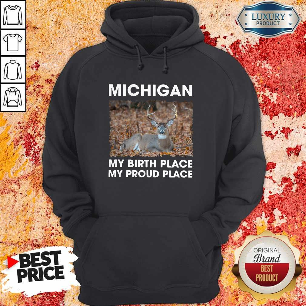 Good Michigan My Birth Place My Proud Place Hoodie