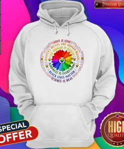 Love Is Love Women's Rights Are Rights Kindness Is Everything Hoodie