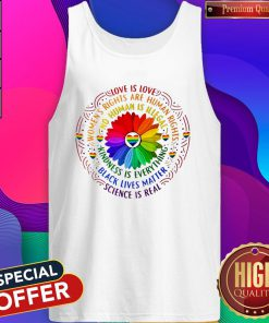 Love Is Love Women's Rights Are Rights Kindness Is Everything Tank Top