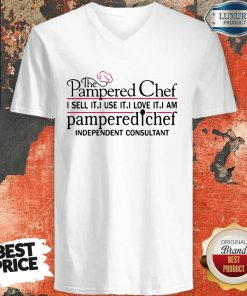 The Pampered Chef I Sell It I Use It V-neck