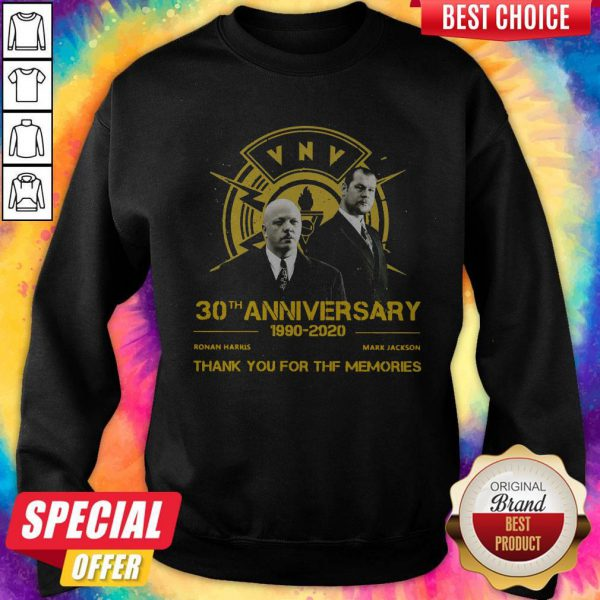 VNV Nation 30th Anniversary 1990 2020 Thank You For The Memories Sweatshirt
