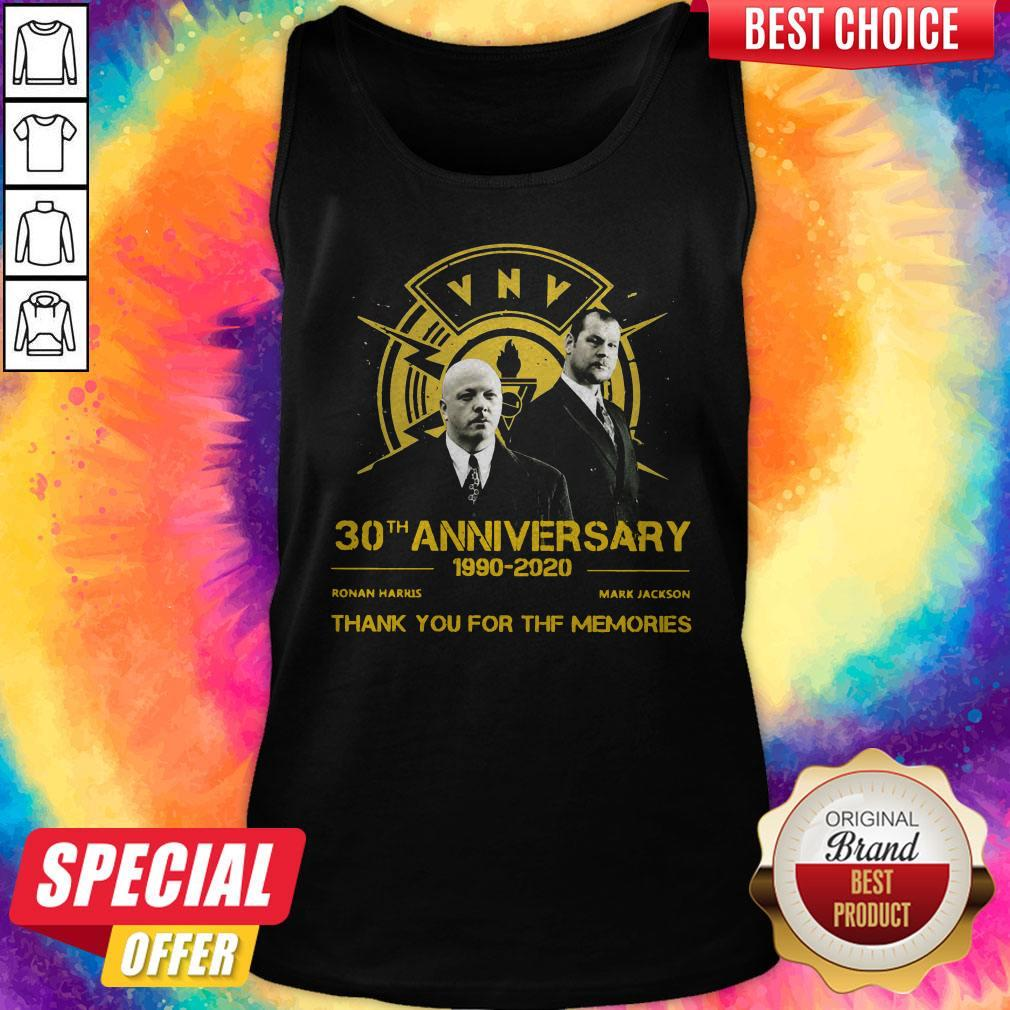 VNV Nation 30th Anniversary 1990 2020 Thank You For The Memories Tank Top