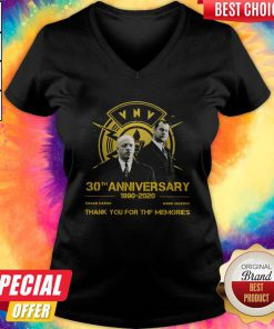 VNV Nation 30th Anniversary 1990 2020 Thank You For The Memories V-neck
