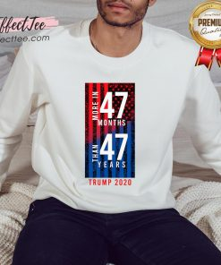 2020 Election Trump Biden Debate 47 Months 47 Years Sweatshirt