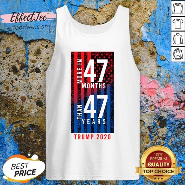 2020 Election Trump Biden Debate 47 Months 47 Years Tank Top