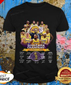 2020 Nba Champions Los Angeles Lakers Signatures Shirt