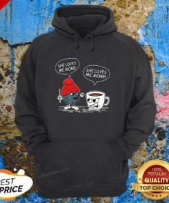 Awesome Crochet Vs Coffee She Loves Me More Hoodie - Design By Effecttee.com