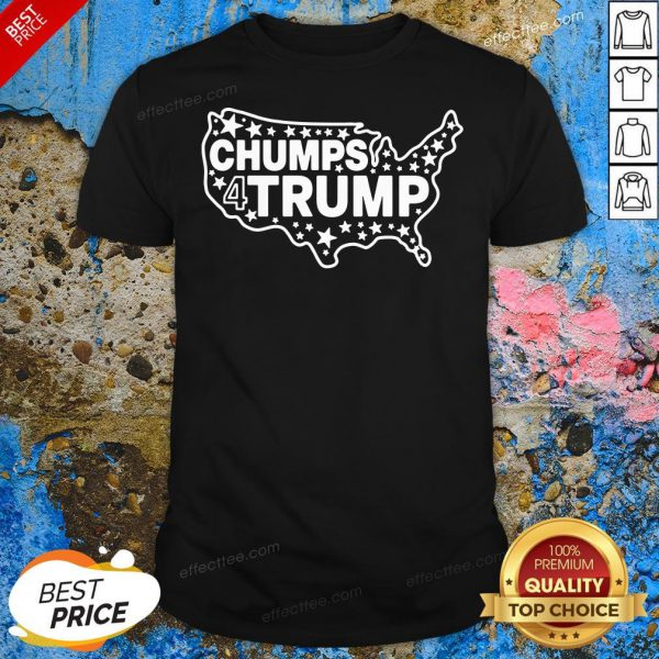 - Design By Effecttee.comGreat Chumps For Trump USA Map Shirt