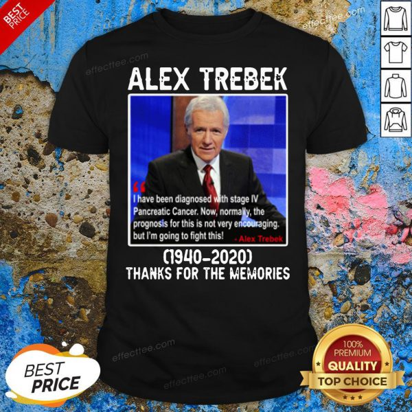 Happy Alex Trebek 1940 2020 Thanks For The Memories Shirt - Design By Effecttee.com