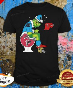 Love The Grinch Carolina Panthers Shit On Toilet Atlanta Falcons And Other Teams Christmas Shirt - Design By Effecttee.com