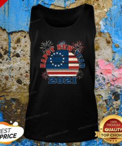 Happy New Year 2021 Vintage Betsy Ross Flag Fireworks Tank Top - Design By Effecttee.com