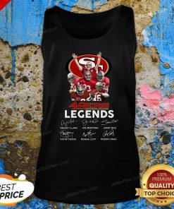 San Francisco 49ers Legends Signatures Tank Top - Design By Effecttee.com
