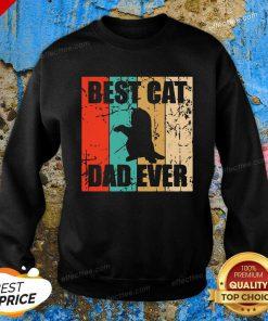 Best Cat Dad Ever Vintage Sweatshirt - Design By Effecttee.com