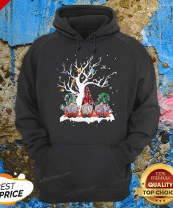Gnome Buffalo Plaid Christmas Tree Light Ugly Santa Hat Hoodie- Design By Effecttee.com