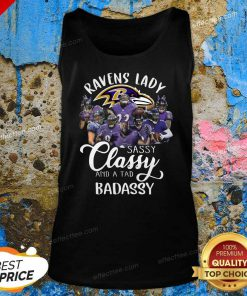 Baltimore Ravens Team Sassy Classy And A Tad Badassy Tank Top- Design By Effecttee.com