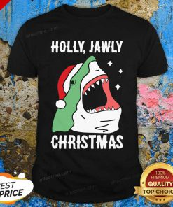 Shark Holly Jawly Christmas Shirt - Design By Effecttee.com