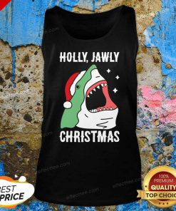 Shark Holly Jawly Christmas Tank Top - Design By Effecttee.com