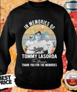 Annoyed In Memories Of Tommy Lasorda 7 Signature Vintage Retro Sweatshirt - Design by Effecttee.com