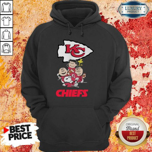 Envious Snoopy And Friends Kansas City Chiefs 22 Super Bowl LV Hoodie - Design by Effecttee.com