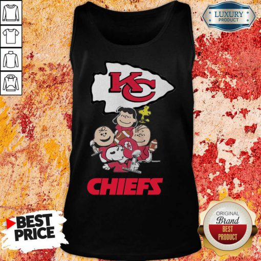 Envious Snoopy And Friends Kansas City Chiefs 22 Super Bowl LV Tank Top - Design by Effecttee.com