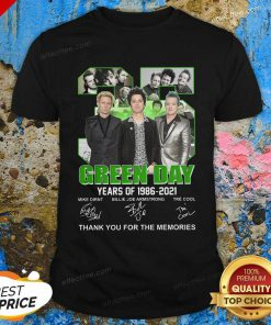 35 Green Day Years Of 1986 2021 Signatures Thank You For The Memories Shirt - Design By Effecttee.com