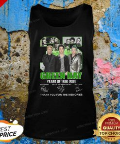 35 Green Day Years Of 1986 2021 Signatures Thank You For The Memories Tank Top - Design By Effecttee.com
