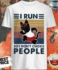 Jaded I Run So I Dont Choke People 3 Cat Vintage Shirt - Design by Effecttee.com