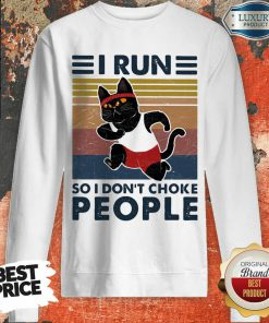 Jaded I Run So I Dont Choke People 3 Cat Vintage Sweatshirt - Design by Effecttee.com
