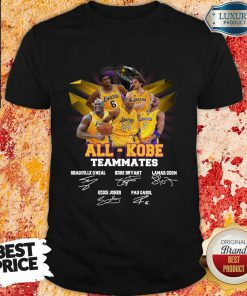 Victimised All Kobe Teammates 2021 Signatures Shirt - Design by Effecttee.com