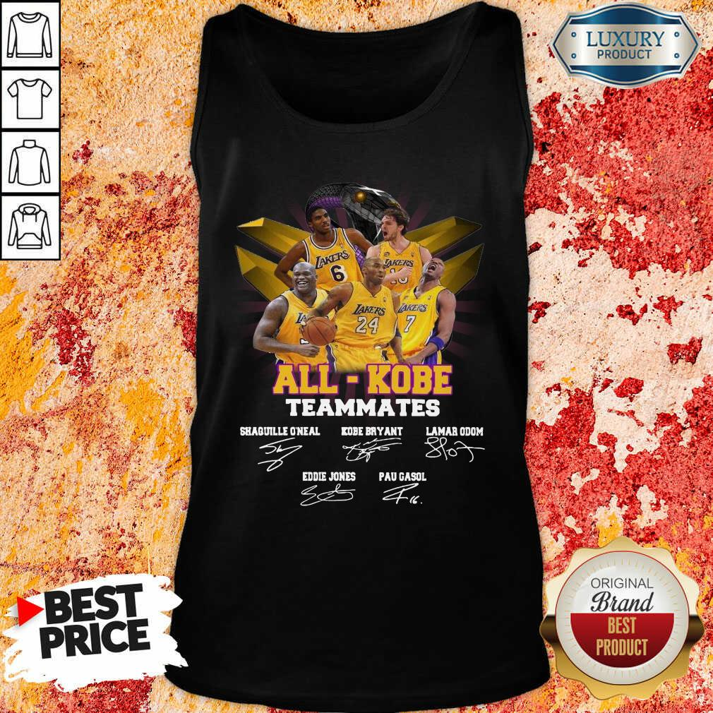 Victimised All Kobe Teammates 2021 Signatures Tank Top - Design by Effecttee.com