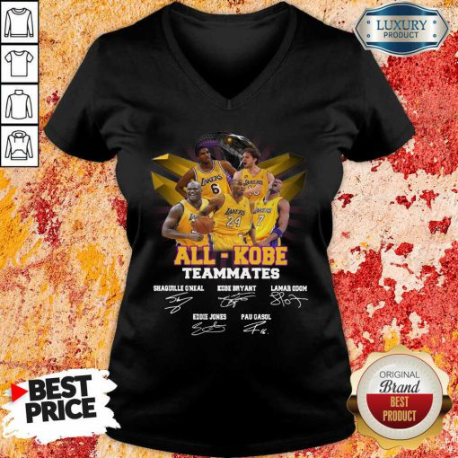 Victimised All Kobe Teammates 2021 Signatures V-neck - Design by Effecttee.com