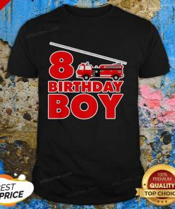8th Birthday Boy 1 Fire Truck Shirt - Design by Effecttee.com