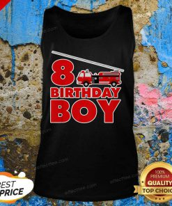8th Birthday Boy 1 Fire Truck Tank Top - Design by Effecttee.com
