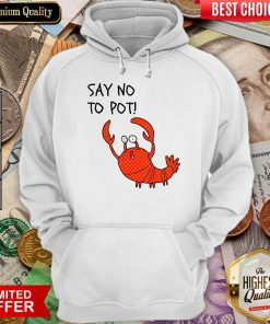 Excellent Say No To Pot Hoodie