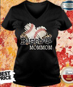 Baseball Mommom V-neck