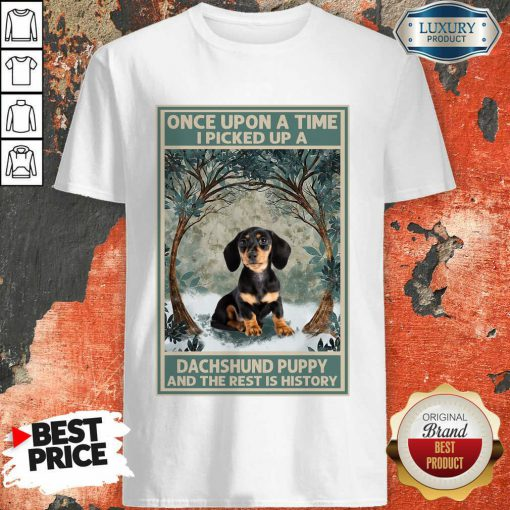 Dachshund The Rest History Poster Shirt