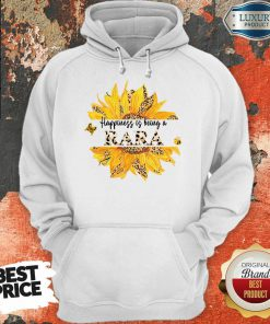 Sunflower Leopard Happiness Is Being A Rara Hoodie