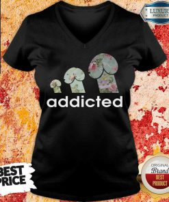 Top Addicted To Dogs V-neck